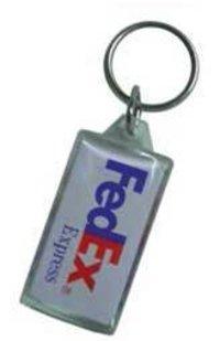 FEDEX ACRYLIC KEYCHAIN