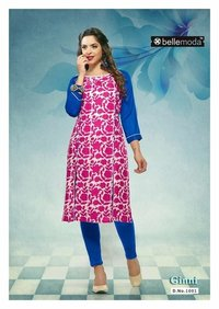 Pink Ginni Cotton rayon dress material