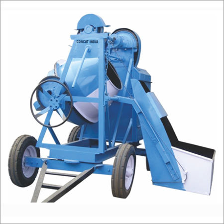 Concrete Mixer With Hopper Hydraulic Mechanical
