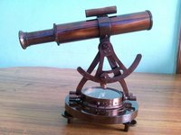 Vintage Handmade Alidade Compass Survey Instrument