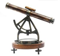 Big Brass Alidade Compass Antique Decor