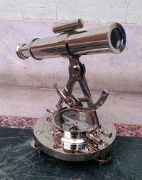 Handamde Brass Compass Chrome/Silver Alidade