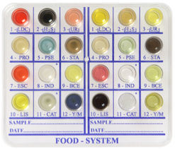 detection and presumptive identification of pathogenic microorganisms from foodstuffs