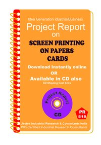 Screen Printing on Papers cards manufacturing eBook
