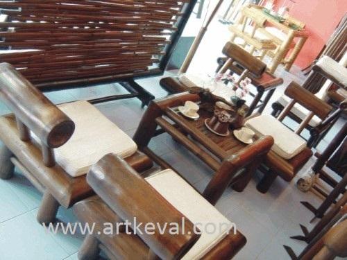 Bamboo Sofa Chair Set