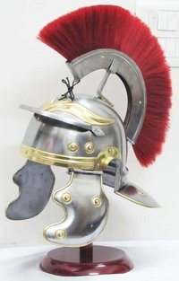 Roman Centurian Medieval Helmet Warrior Armour With Red Plume