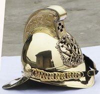 Brass Fireman Fire Fighter Brigade British Chief Helmet