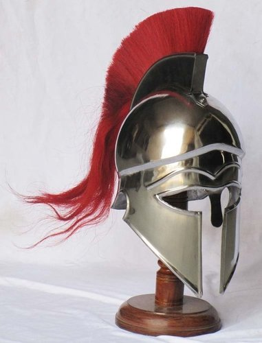 Corinthian Armour Helmet With Red Plume