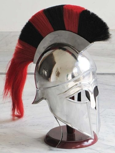 Spartan Corinthian Armour Helmet With Black & RED Plume