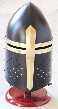 Medieval Black Knight Sugarloaf Armour Helmet