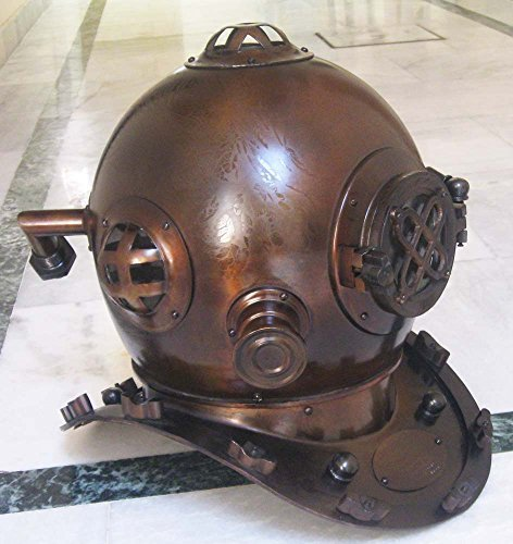 U. S. Navy Diving Helmet Boston MA With Mark