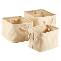 Jute Storage Bin With Rope