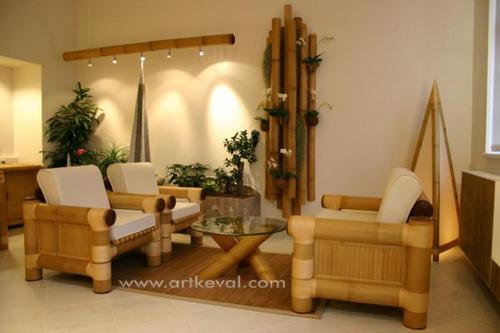 Bamboo Sofa, Chairs & Table