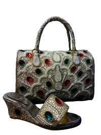 High Quality Latest Model Ladies Shoe And Bag Party Wear