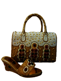 Latest Design Party Wear Matching Bag & Shoe For Woman