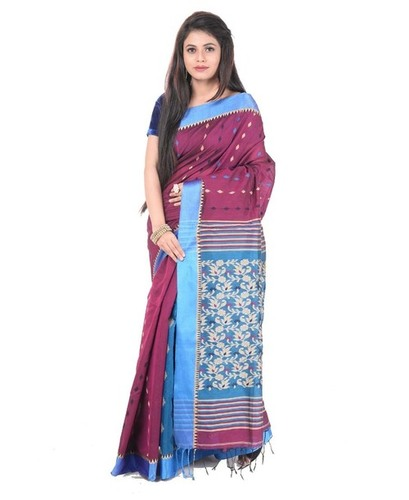 Printed Handloom Cotton Saree