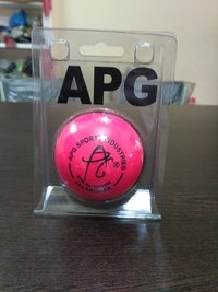 APG Pink Leather Cricket Ball (Test)