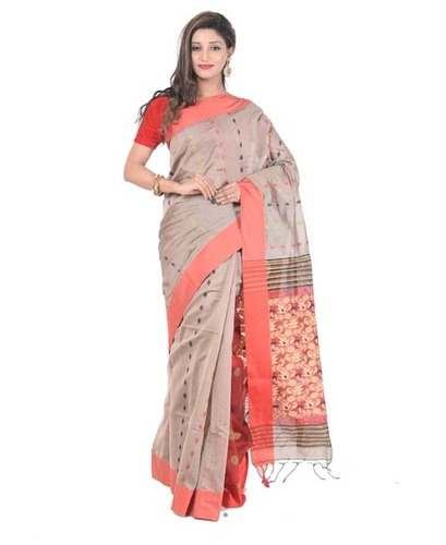 Poly Handloom Cotton Saree