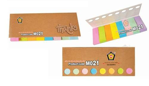 8 COLOUR STICKY NOTE PAD