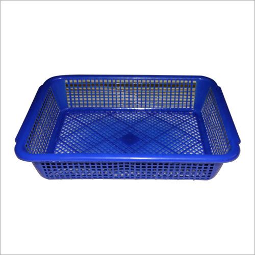 Blue Plastic Basket