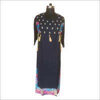 Ladies Jacket Print Cotton Kurti