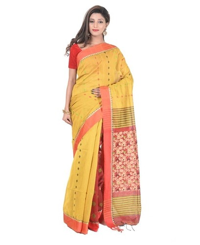Ethnic Handloom Cotton Saree