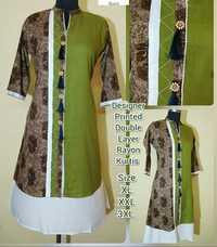 Ladies Printed Rayon Kurtis
