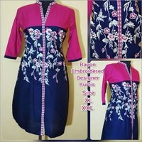 Ladies Embroidered Designer Kurtis