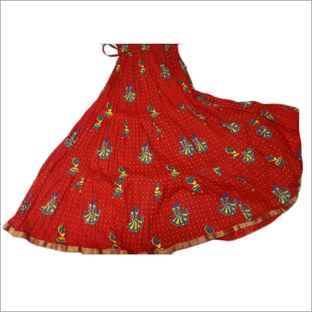 Ladies Red Printed Skirts