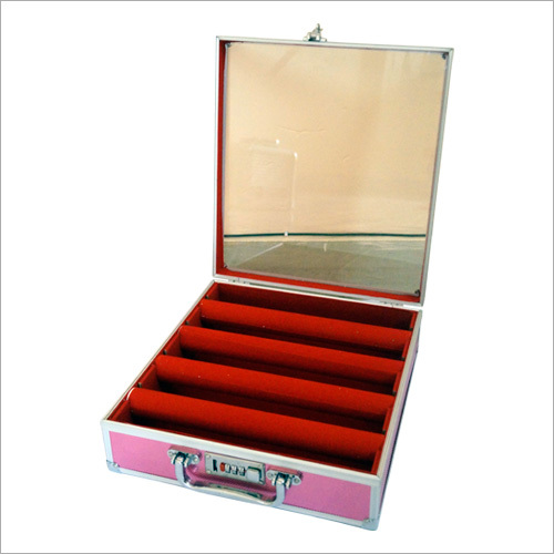 Ladies Glass Top Makeup Case