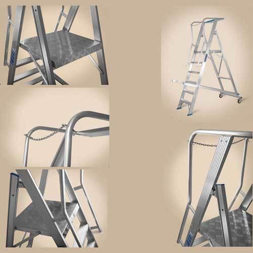 Aluminium Rolling Warehouse Ladder