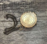 Maritime Brass Compass With Chain