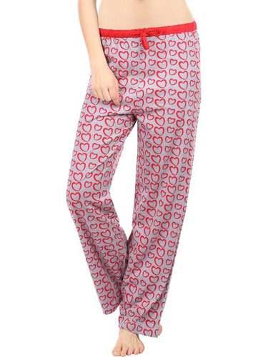 Semantic Women's Cotton Pyjamas Sleepwear Hearts Print