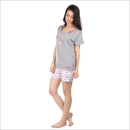 a6adaf32e7 Semantic Women s Cotton PJ Shorts Nightwear Love You Me - Semantic ...