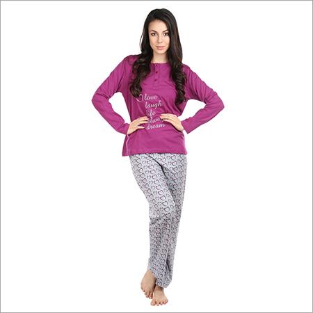 0fd3fa0f2f Semantic Women s Cotton PJ Night Suits Sleepwear Hearts Print ...