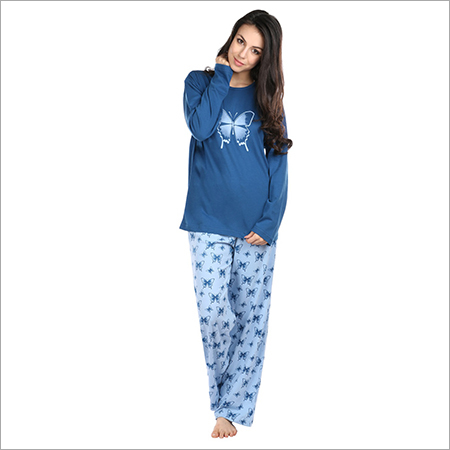 d37f16f58e Semantic Women s Cotton PJ Night Suits Sleepwear Butterfly Print - MERIT  TEXTILES