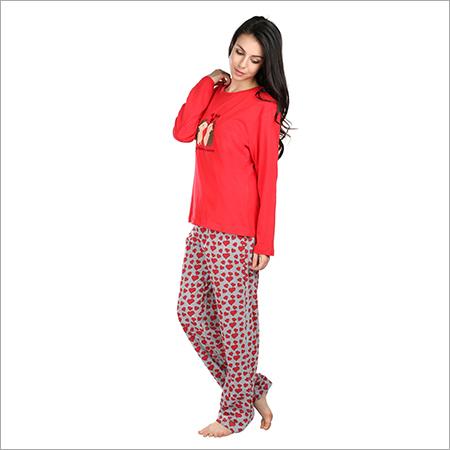 5539b07f44 Semantic Women s Cotton PJ Night Suits Sleepwear Heart Print ...