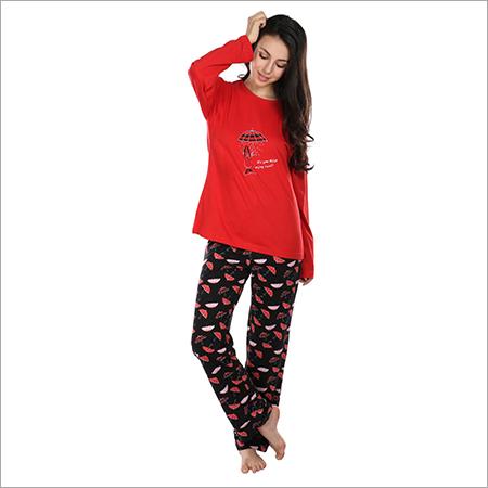 aae9183694 Semantic Women s Cotton PJ Night Suits Sleepwear Umbrella Print ...