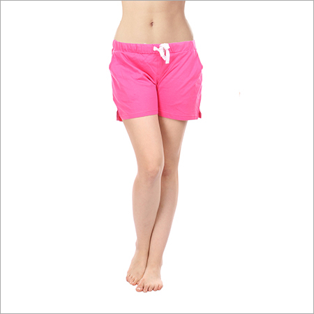 Semantic Women's Cotton Casual Solid Shorts
