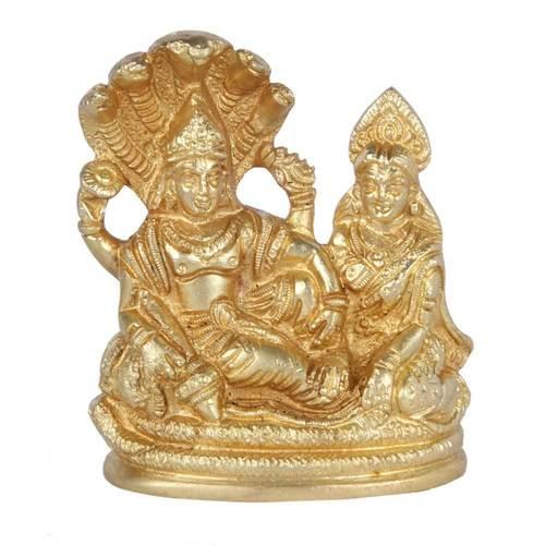 Brass Vishnu Laxmi Idol