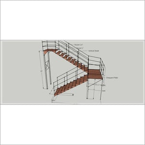 Institutional Fire Exit Stairs