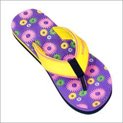 Ladies Floral Printed Flip Flop