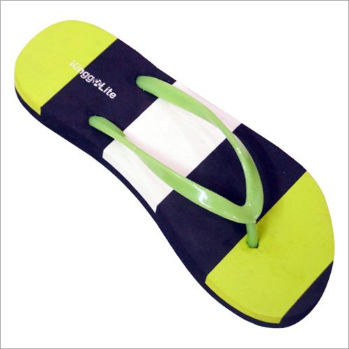 Ladies PVC Strip Printed Flip Flop