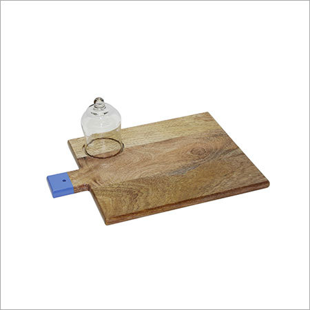 Wooden Chopping Board With Enamel