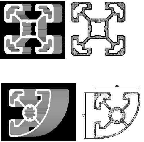 T Sloted Aluminium Profiles