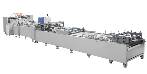CM2SP-1400 two sheets pasting machine with tube forming&top folding