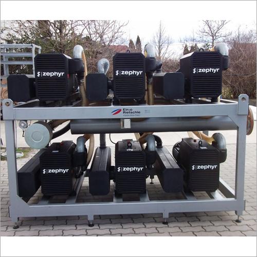 Elmo Rietschle Zephyr LVZ-3000, 6x VLR 500 Industrial Vacuum Pump Unit, 3000m3/h (50Hz), 54kW, 105A