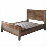 Reclaimed King Size Wood Bed Frame, Rustica Reclaimed Wooden Bed Compressed