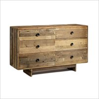 Reclaimed Wood 6 Drawer Dresser Natural Cabinet, Sideboard