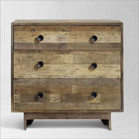 Reclaimed Wood 3 Drawer Dresser Natural Cabinet